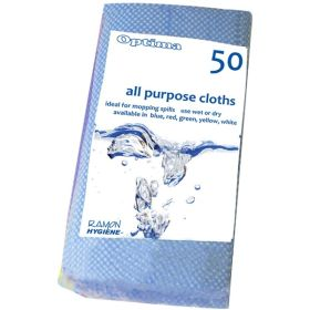 All-Purpose Cloth 60X30cm Blue (50Pcs)