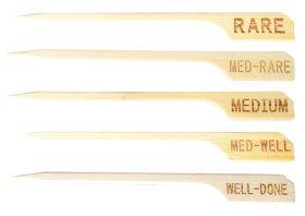 Bamboo Meat / Steak Skewers 9cm - Medium Well - Pack of 100