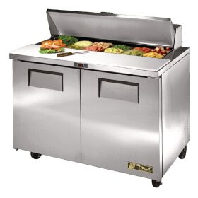 True TSSU-48-12 2 Door Salad Prep Counter Refrigerated