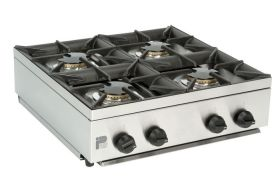 Parry AG4HP - 4 Burner Gas Boiling Top Hob Unit - LPG
