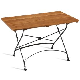 ARCH Rectangular Folding Table Wooden Top Outdoor – ZA.276CT