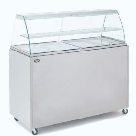 Roller Grill BMV4 Bain Marie with Display Cabinet