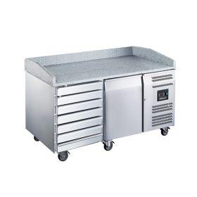 Blizzard  BPB1500-7N 1 Door 7 Drawer Pizza Prep Counter Fridge 390L