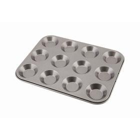 Carbon Steel Non-Stick 12 Cup Bun Tray - Genware