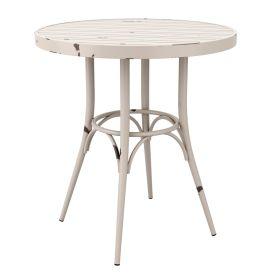 CAFÉ White Rustic Table Round – ZA.442CT
