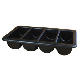 "Cutlery Tray/Box  FULL SIZE Black 13"" X 21"" - Genware"