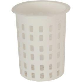 Cutlery Cylinder White 100 mm Diameter 135mm High - Genware