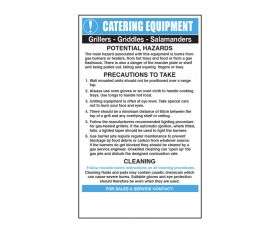 Grills and Griddles Catering Safety Sign - Mileta CE003