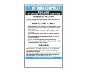 Bain Maries Catering Safety Sign - Mileta CE013