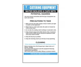 Water Boilers/Cafe Sets Catering Safety Sign - Mileta CE014