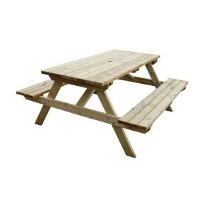 Wooden Picnic Bench 5ft - 6 Seater