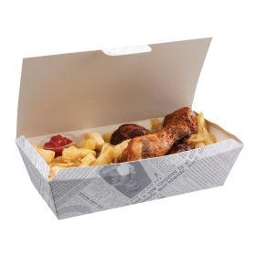 Disposable Food Tray Newsprint 250(W) - Pk 150