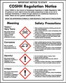 COSHH Regulations Sign 350x270mm