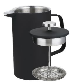 Sunnex Matte Black Cafetiere 700ml / 24.5oz - 5/6 Cup
