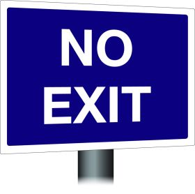 No Exit Sign 300x400mm Wall Mounted
