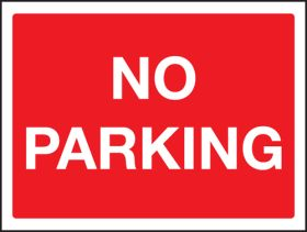 No Parking Sign 300x400mm Wall Mounted