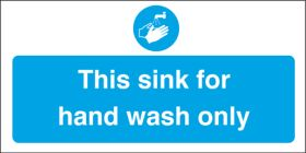 Sink for hand wash only. 100x200mm. S/A