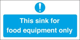 Sink for food equipment only. 100x200mm. S/A