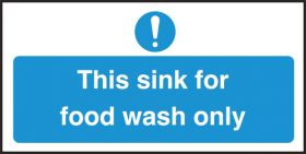 Sink for food wash only. 100x200mm. S/A
