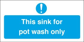 Sink for pot wash only. 100x200mm. S/A