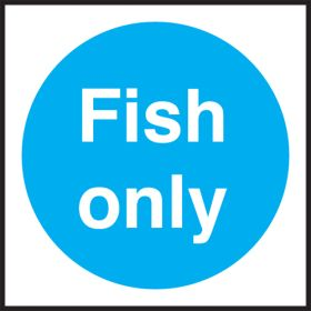 Fish only. 100x100mm. Self Adhesive Vinyl