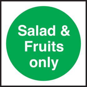 Salad & fruits only. 100x100mm. Self Adhesive Vinyl