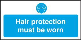 Hair protection must be worn. 100x200mm. S/A