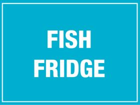 Fish Fridge. 150x200mm. Self Adhesive Vinyl