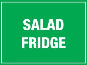 Salad Fridge. 150x200mm. Self Adhesive Vinyl