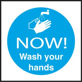 NOW! Wash your hands. 100x100mm. S/A
