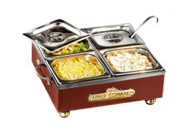 King Edward CS1V/CLA - Small Cold Server 4 x 1/6 GNs - Claret