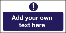 Mandatory  - Create Your Own Catering Sign - Add Your Own Text 100x200mm