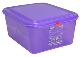Allergen Colour Coded Purple Food Container - 1/2GN 10 Ltr