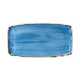 Churchill Stonecast Rectangular Plate Cornflower Blue 350 x 185mm - DF773 - pk 12