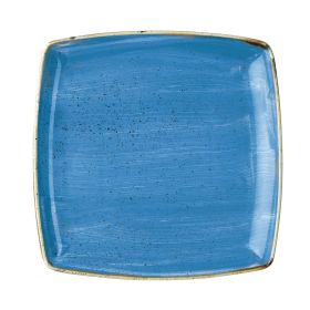 Churchill Stonecast Deep Square Plate Cornflower Blue 265mm - DF774 - pk 6