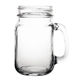 Olympia Handled Jam Mason Jar Glasses 450ml (Pack of 6)
