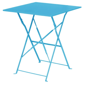 Bolero GK985 Seaside Blue Square Pavement Style Steel Table