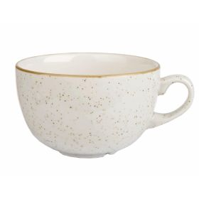Churchill Stonecast Cappuccino Cup Barley White 12oz - DK531 - pk 12