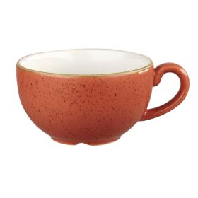 Churchill Stonecast Cappuccino Cup Spiced Orange 12oz - DK548 - pk 12