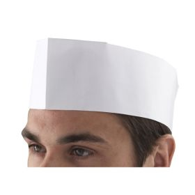 Chef's Disposable Paper Forage Hat (100 Pcs) - Genware