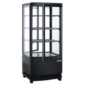 Polar DP288 - Chilled Display Unit Black - 86Ltr