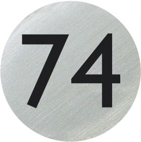 Numbered Door Discs 75mm Silver & Black Number