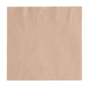 Compostable Unbleached Lunch Napkins 330mm - Pk 2000