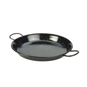 Black Enamel Paella Pan 30cm - Genware