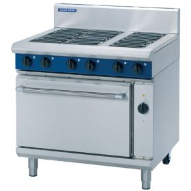 Blue Seal E56D - Electric 6 Burner Range with Convection Oven W900mm