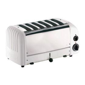 Dualit 6 Slice Vario Toaster - White Ends 60146