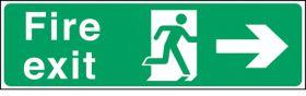 Fire exit arrow right. 150x450mm F/P