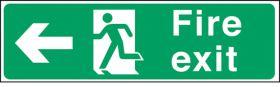 Fire exit arrow left. 150x450mm S/A