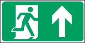 Exit man arrow up. 150x300mm S/A
