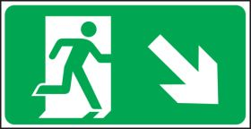 Exit man arrow down right. 150x300mm F/P